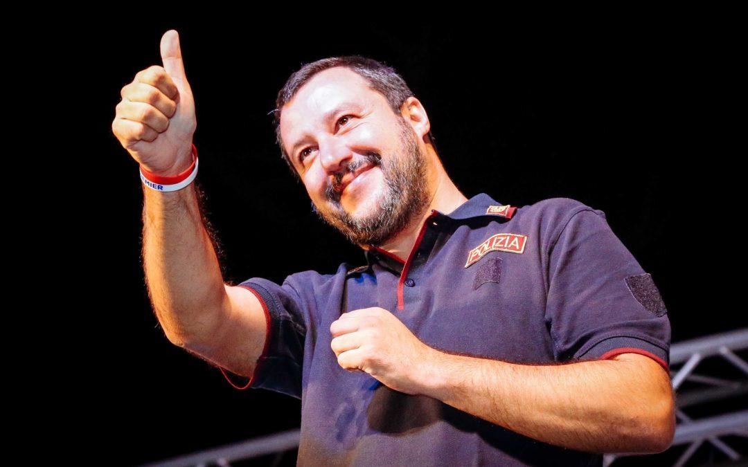 Matteo Salvini a Latina per la festa della Lega
